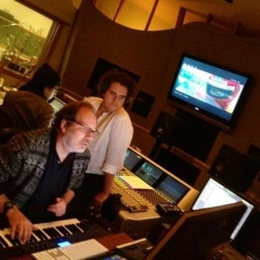 Hans and Lorne in the Studio